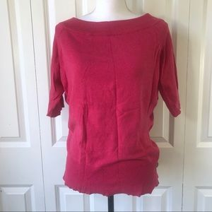 The Limited Sweater Scoop Neck Pink Large